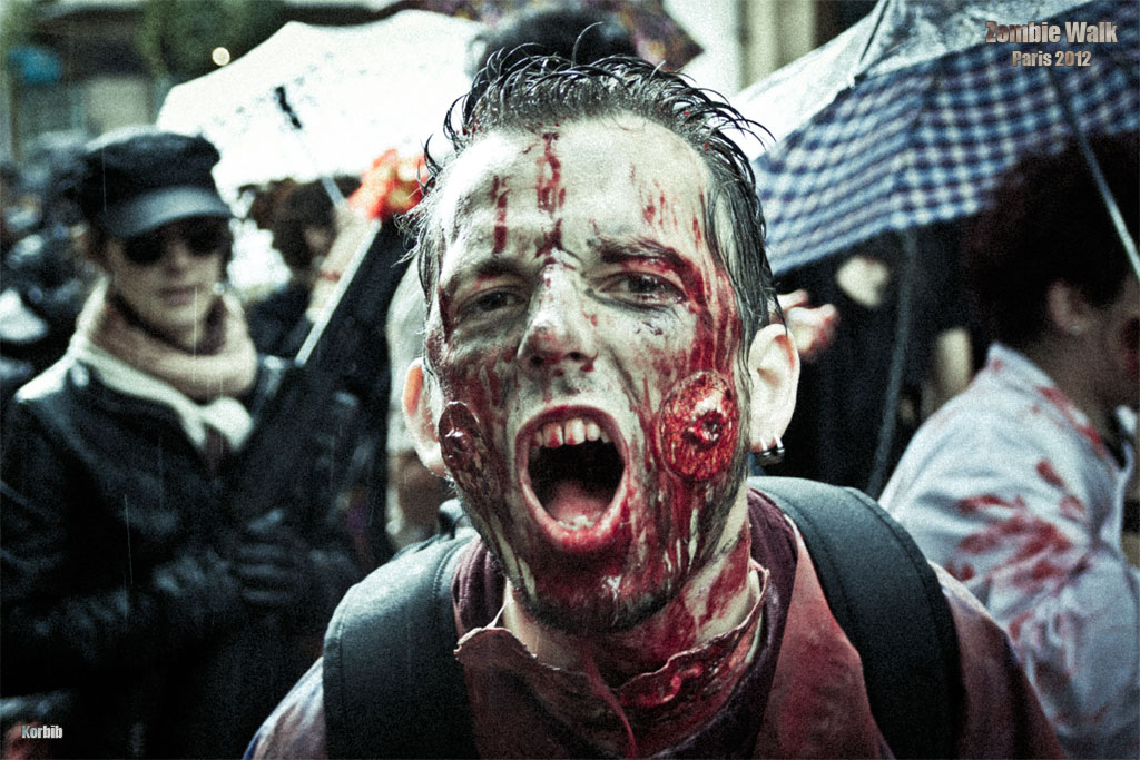 Zombie walk paris 2012